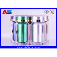 Quality Durable Acrylic Plastic Pill Pots 60CC Pharmacy Capsules Cylinder Bottle for sale