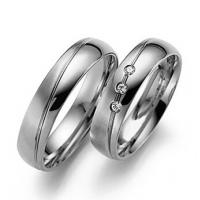 China Solid 9ct 18ct white gold men's couple rings diamond wedding rings JSHG65-W on sale