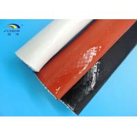 Best Steel Plant Use Braided Fiberglass Sleeve With Silicone Cover High Temperature Resistant wholesale