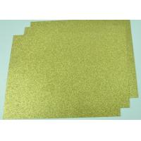 Buy cheap Customized Glitter Cardstock Paper , Festival Use Double Sided Gold Glitter Card from wholesalers