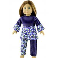 China Purple And Black Streak Nylon Doll Set , 18 inch American Girls Doll Clothes on sale