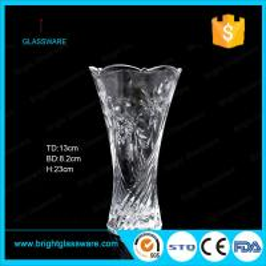 Best cheap clear glass vase for decoration wholesale