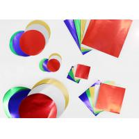 Quality Gummed Colored Paper Circles Gloss Finish Combined With Squares And Circles for sale