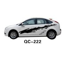 Quality Environment-friendly PVC & Ink Custom Car Body Sticker QC-222K for sale