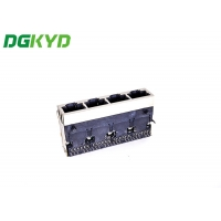 Quality TAB UP Shielded 1X4 10G RJ45 Ethernet Connector for sale