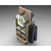 Best Wood Slatwall Clothing  Garment  Display Racks With Metal Hangers wholesale