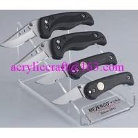 China PMMA knife holder, plexiglass knife & fork display stand / acrylic knife display rack on sale