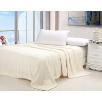 China Plain Style Cozy Soft Flannel Bed Blanket Jacquard Anti - Pilling Multi Color Available on sale