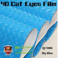 Quality 4D Cat Eyes Car Wrapping Vinyl Films - Sky Blue for sale