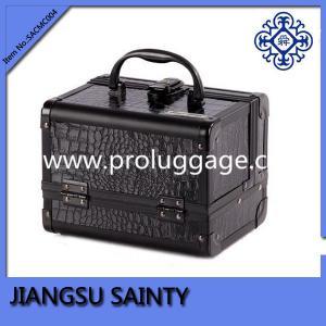 SACMC004 black croco pvc aluminum beauty case