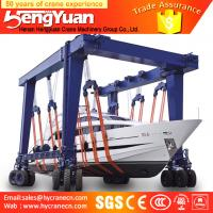 Quality New design Mobile Boat Lifting Hoist/boat lifting gantry crane/yacht lifting crane for sale