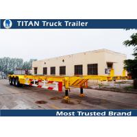 China TITAN tri - axle 45ft skeletal container trailer chassis for maritime container on sale
