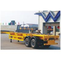 China 40 FT 2 axle skeletal container semi-trailer on sale