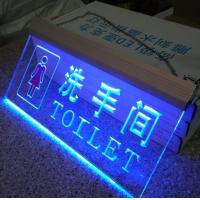 China Blue Light Clear Acrylic Led Display / Plexiglass Led Sign In Passage on sale