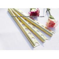 Buy cheap Curved Shine Gold Aluminium Tile Edge Trim 10mm x 2.44m / 2.5m / 2.6m from wholesalers