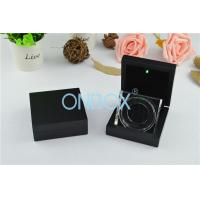 China Luxury Painting Wooden Boxes LED Coin Display Box With Acrylic Display Stand on sale