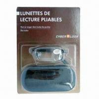 China Folding Metal Reading Glasses with Matching Case on sale