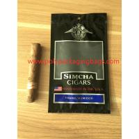 Quality Resealable Ziplock Cigar Humidor Bags Through Window Convenient To Carry for sale