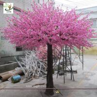 Quality UVG 10 foot pink peach blossom artificial trees indoor for cheap wedding decorations CHR160 for sale