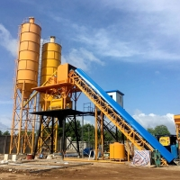 China Concrete Mixing Plant Mobile Ready Mixed Cement Concrete Batching Plant In for sale