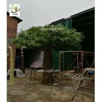 Best UVG indoor large fake trees realistic banyan tree with silk leaves for sale GRE062 wholesale