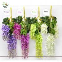 Best UVG Artificial Flower for Wall Decoration in White Wisteria wedding use china market wholesale