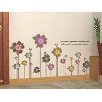 Quality PVC Flowers Removable Wall Stickers Eco Friendly For Bedroom for sale