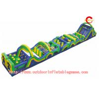 Best Racing And Climbing Outdoor Inflatable Obstacle Course For Kids Game wholesale