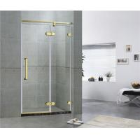 China Golden Bronze Inline Frameless Corner Shower Doors 10mm Tempered Glass CE / CCC on sale