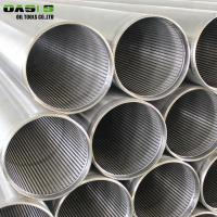 Quality Round Metal Stainless Steel Well Screen Pipe For Borehole Drilling 2mm Thickness for sale