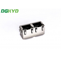 Quality Double Port 180 Degrees RJ45 With LEDTAB-UPRJ45 Network Connection for sale