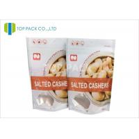 Best Gravure Printing Plastic Stand Up Pouches , Salted Cashews Plastic Food Pouches Matte Surface wholesale