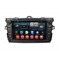 Quality Toyota GPS Navigation Corolla Android Car DVD Player SWC TV Bluetooth Radio USB SD for sale