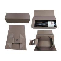 Quality Recyclable Birthday Single Bottle Wine Box 9.75 X 6.25 X 2.5 Inches for sale