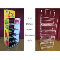 China Customize Size Wire Shelf Display Rack  / Graphic Side POP Wire Display Stand on sale