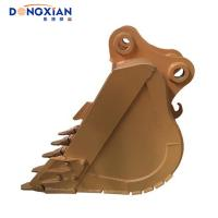 China Genuine Excavator Hydraulic Parts , Hyundai PC200 Heavy Duty Reinforced Cutting Edge Excavator Rock Bucket on sale