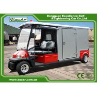 Quality 2 Seater 48v Electric Ambulance Golf Cart With Rain Cover Waterproof for sale