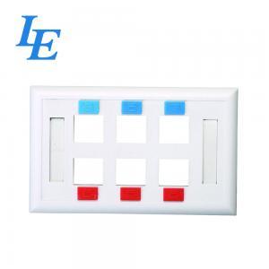 China Ethernet Wall Plate 6 Port CAT6 CAT5E RJ45 Keystone Female to Female Faceplate on sale