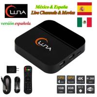 Buy IPTV Spanish Channels Luna TV Box With 18 Months Account For Latin America at wholesale prices