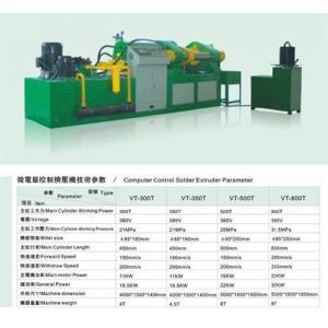 Quality 500ton tin solder flux core extrusion machine for sale