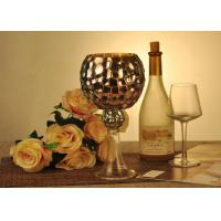 China Antique Mosaic Glass Candle Holder Electroplating Christmas Decoration on sale