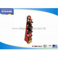 Best Customized Sturdy Cardboard Floor Display Stand Waterproof D&B / SGS wholesale