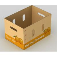 Quality Corrugated Vegetables Packing Boxes For Fruit Shipping ISO9001 Certification for sale