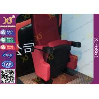 Quality Automatic Return PP back Movie Theater Chairs Floor Fixed With Folding Cupholder for sale