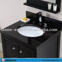 Quality Pure black Marble Vanity Top,Golden granite vanity tops ,Bathroom travertine vanity  ,granite bathroom vanity tops for sale