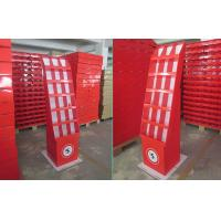 China Red Cardboard Display Cardboard Stand With 18 Pockets For Promoting DVDs on sale