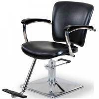 Quality Round / Square Base Salon Hair Styling Chairs With Chrome Steel Foot Plate for sale