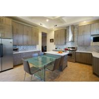 Best Country Design  UV Kitchen Cabinet Island Shaped With Acrylic Countertops wholesale