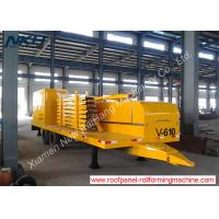 China V610 Big Span Roof Panel Roll Forming Machine With Bending / Curving Machine on sale