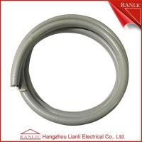 Quality Gray 1/2 Liquid Tight Flexible Electrical Conduit PVC Coated With Cotton Wire for sale